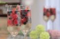 Gelatina de Champanhe e Frutos Vermelhos