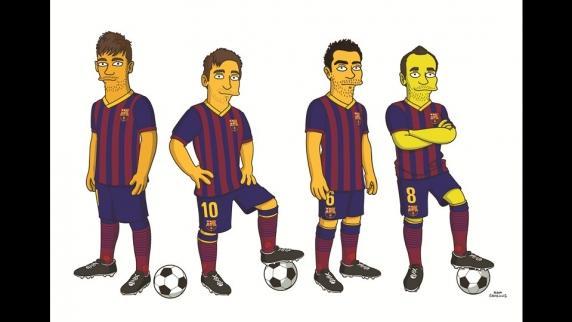 F.C. Barcelona Simpsonizados